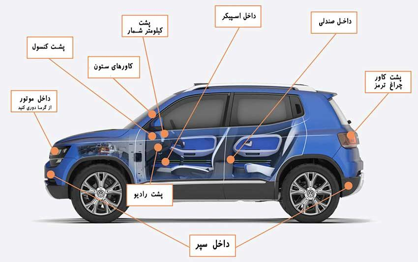 آموزش نصب ردیاب خودرو و جی پی اس خودرو